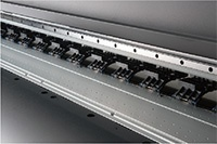 Vacuum media hold-down system beneath the platen
