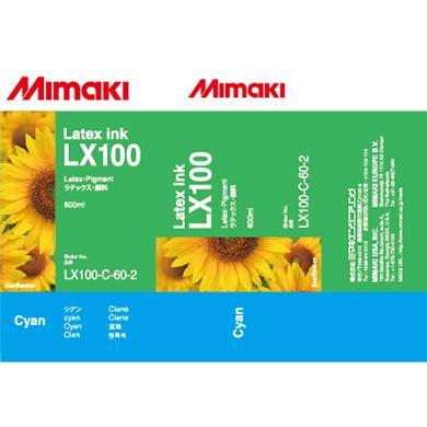 LX100-C-60 LX100 Latex Ink pack Cyan