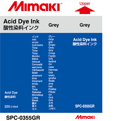 SPC-0355GR Acid dye ink Gray